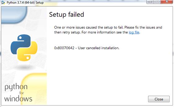 setup failure snap