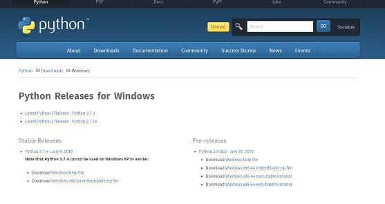 Python installation on windows Step 2