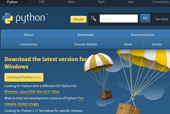 Python installation on windows Step 1