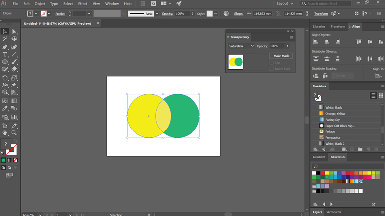 saturation (Blending Modes in Illustrator)