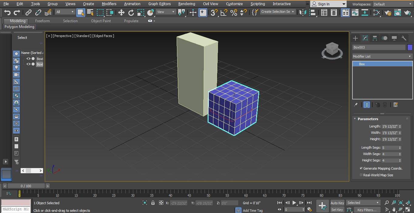segment for the box