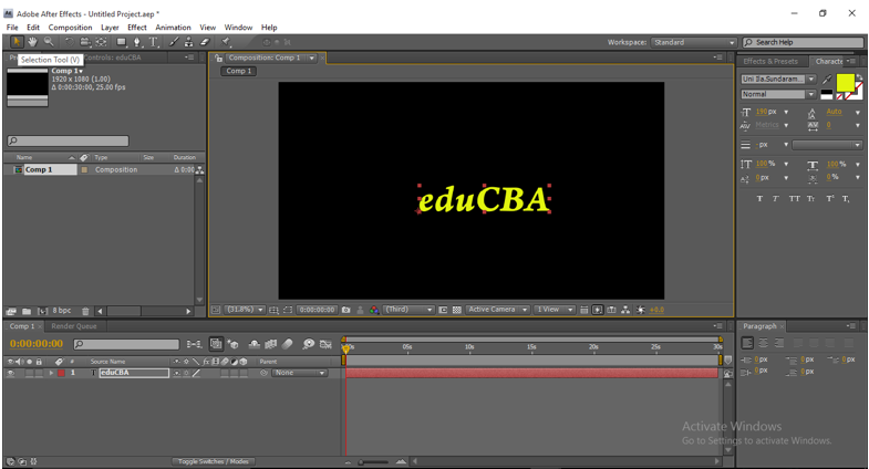Text Animation in After Effects 5
