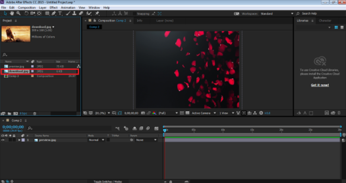 Blending Modes In After Effects - Dropping the image