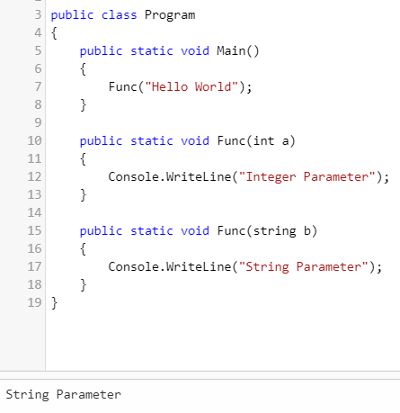 type of parameter output1 (Overloading in C#)