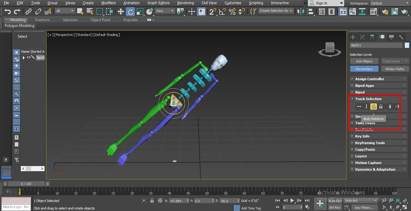 use body rotater (Biped in 3ds Max)