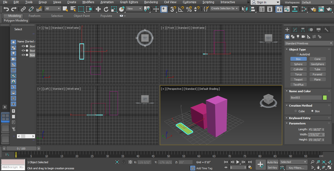 use upward and downward arrow key in 3d max modeling