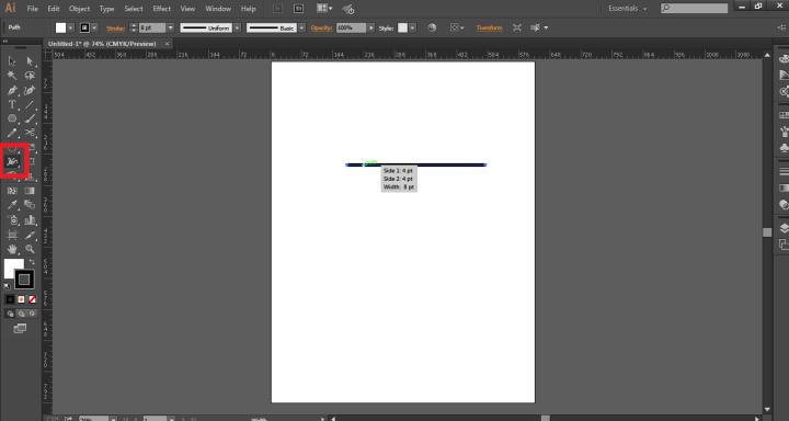 use width tool