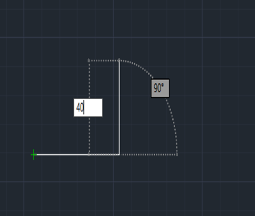 vertivcal position 40 mm (lines in AutoCAD)