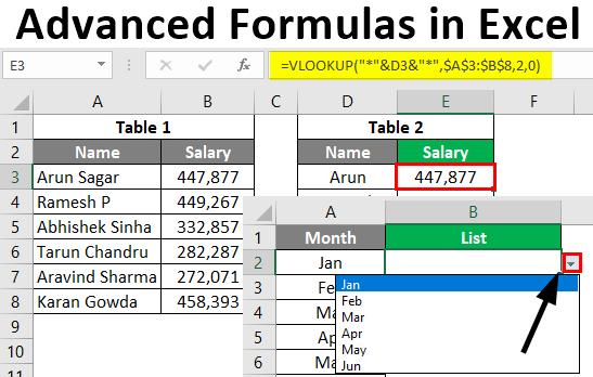Advanced Formulas in Excel