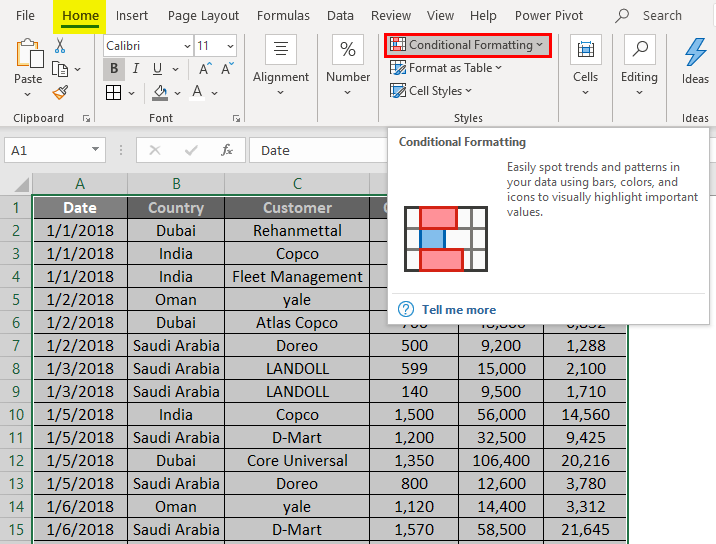 Conditional Formatting without Helper Column 2-2