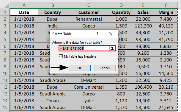 Shade Alternate Rows in Excel 1-4