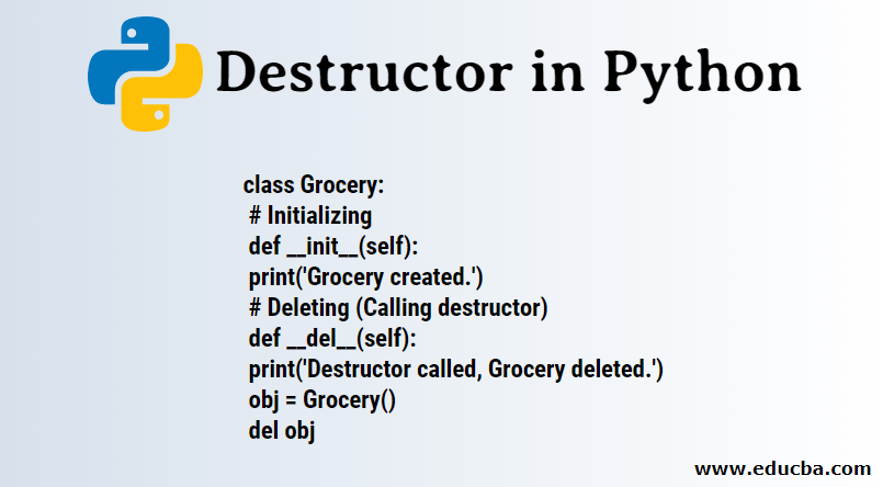 Destructor in Python