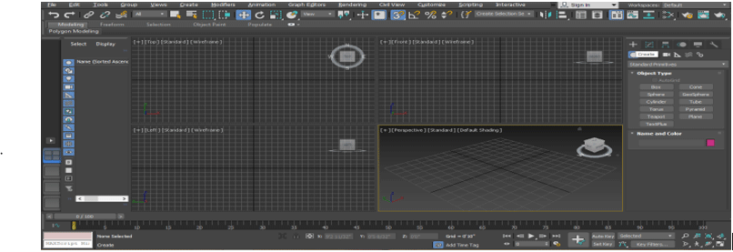 3Ds Max Extrude 1