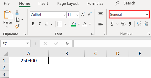 Format cells in excel 1-3