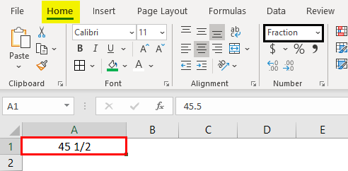 Fraction Format output
