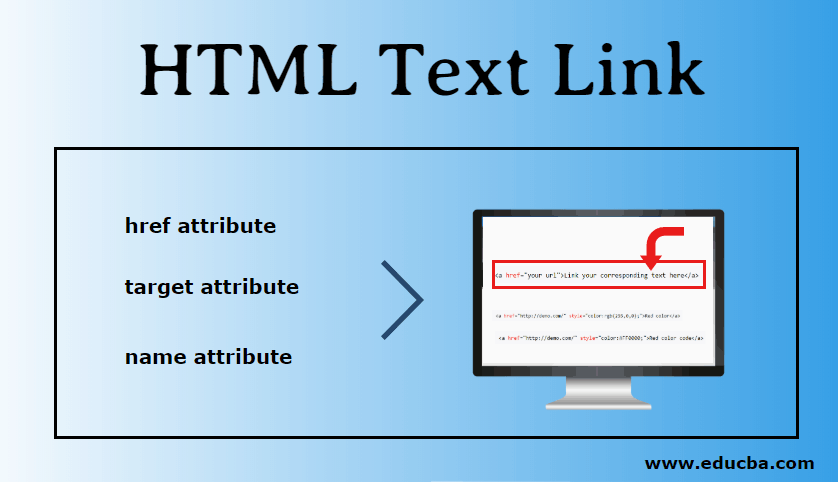 HTML Text Link
