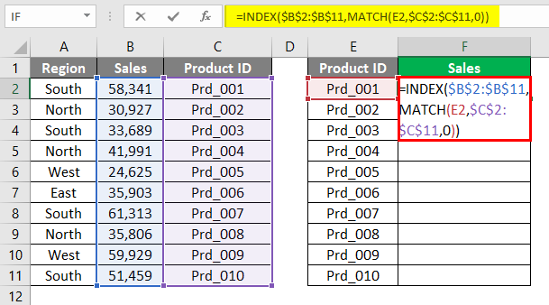 INDEX Match 10-1