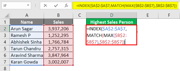 INDEX + MATCH + MAX 5-1