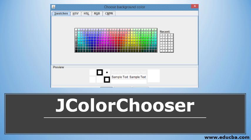 JColorChooser