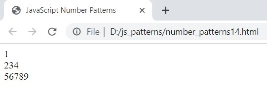 JavaScript Number Patterns 1