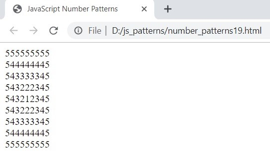 JavaScript Number Patterns 6