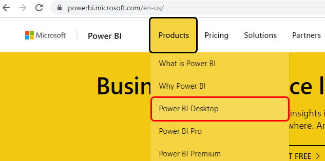 Power BI Tutorial Example 1-1
