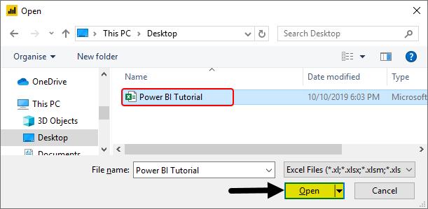 Power BI Tutorial Example 1-7