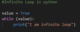 Python Infinity Loop