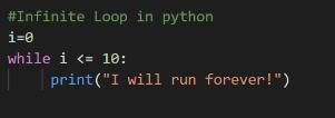 Python Infinite Loop
