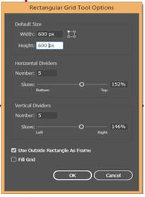 Rectangular grid tool option 3