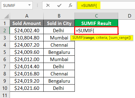 SUMIF WITH Text Excel 1-4