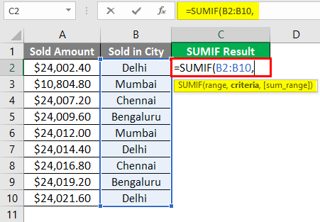 SUMIF WITH Text Excel 1-5