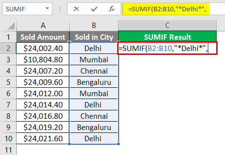 SUMIF WITH Text Excel 1-6