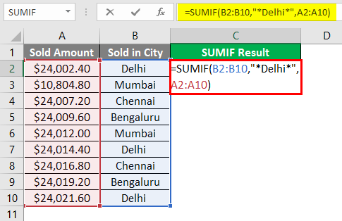 SUMIF WITH Text Excel 1-7