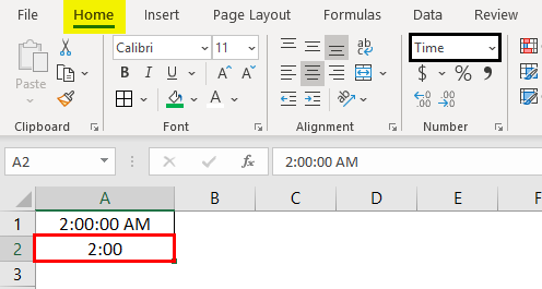 Change Time Format