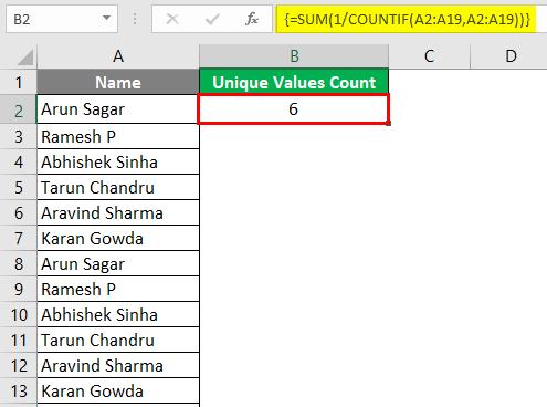 Count of Unique Values 6-2