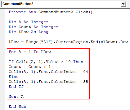 VBA Counter Example 1-10