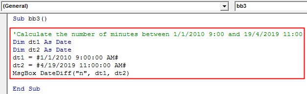 VBA DateDiff Example 2-8