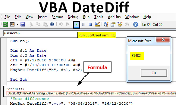 VBA DateDiff in Excel