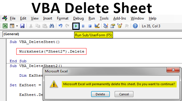 VBA Delete Sheet