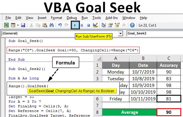 VBA Goal Seek