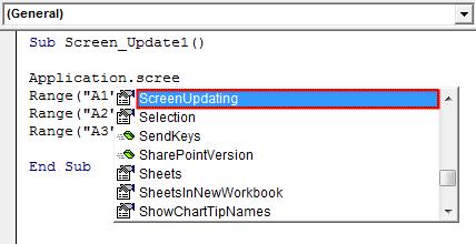 Screen Updating Example 1-4