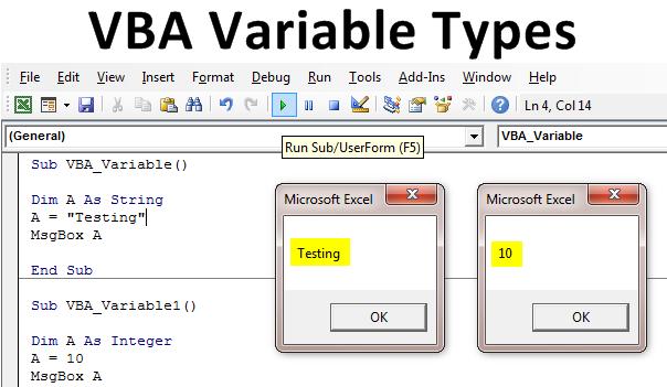 VBA Variable Types