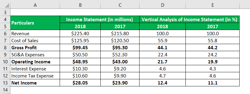 Vertical Analysis of Income Statement-1.3