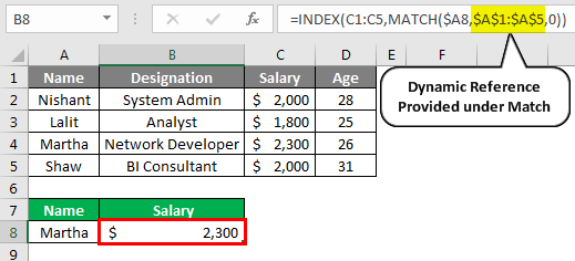 Index Match Function 2