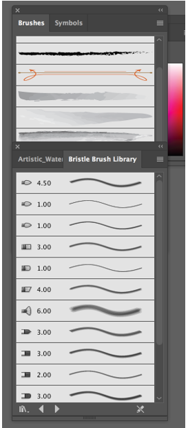 Watercolor Brushes Illustrator 8