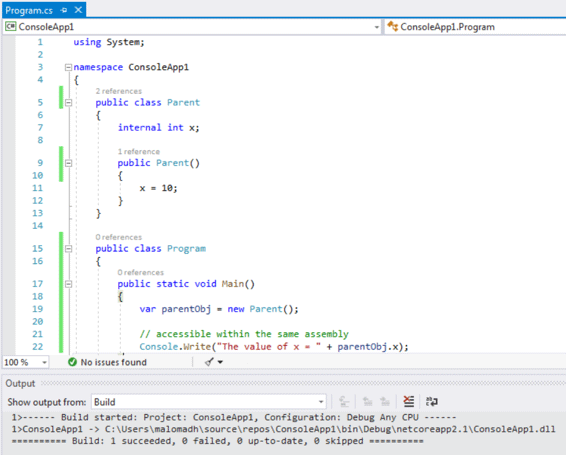Access Modifiers in C#