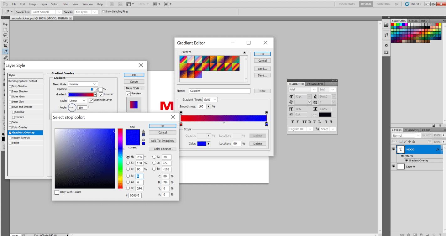 Adding Mood Sticker in Photoshop 11