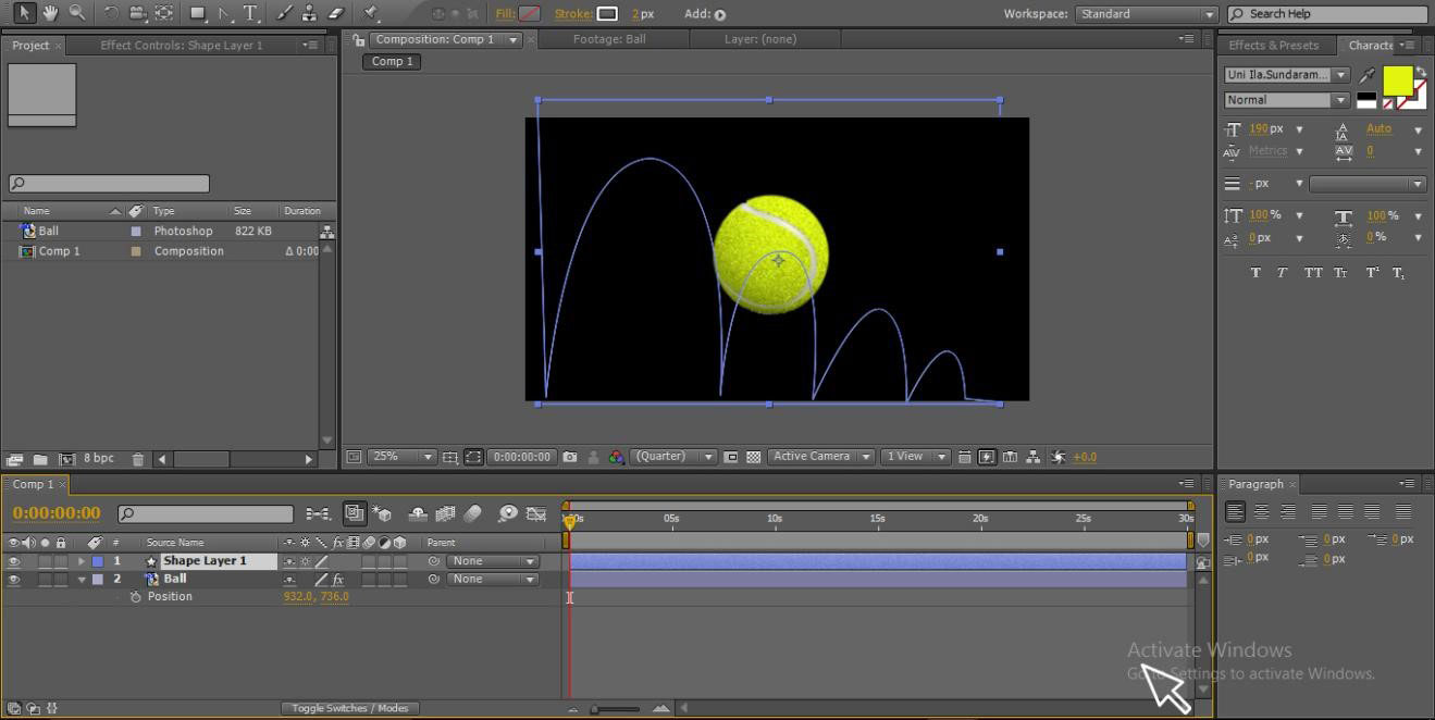 animate with pen tool