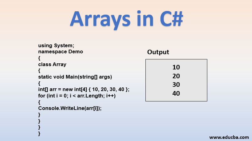 array in C#